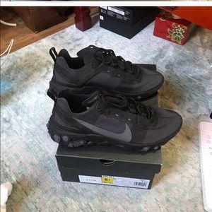 Nike Shoes - Nike react element 55 triple black